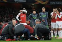 Arsenal forward hospitalized after 'serious' ankle injury