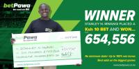 Bahati resident turns 10 shillings into 654,556 with betPawa.