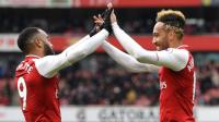 Arsenal fans ecstatic over what Aubameyang said about Lacazette