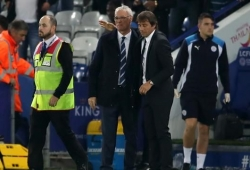 Sad Conte reacts to Ranieri's sacking