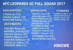 AFC Leopards squad numbers: Kateregga takes iconic 10