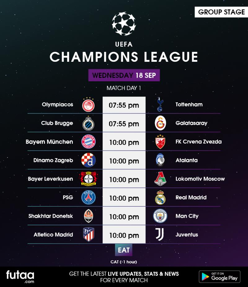 uefa champions league matchday 1 full wednesday preview futaa com uefa champions league matchday 1
