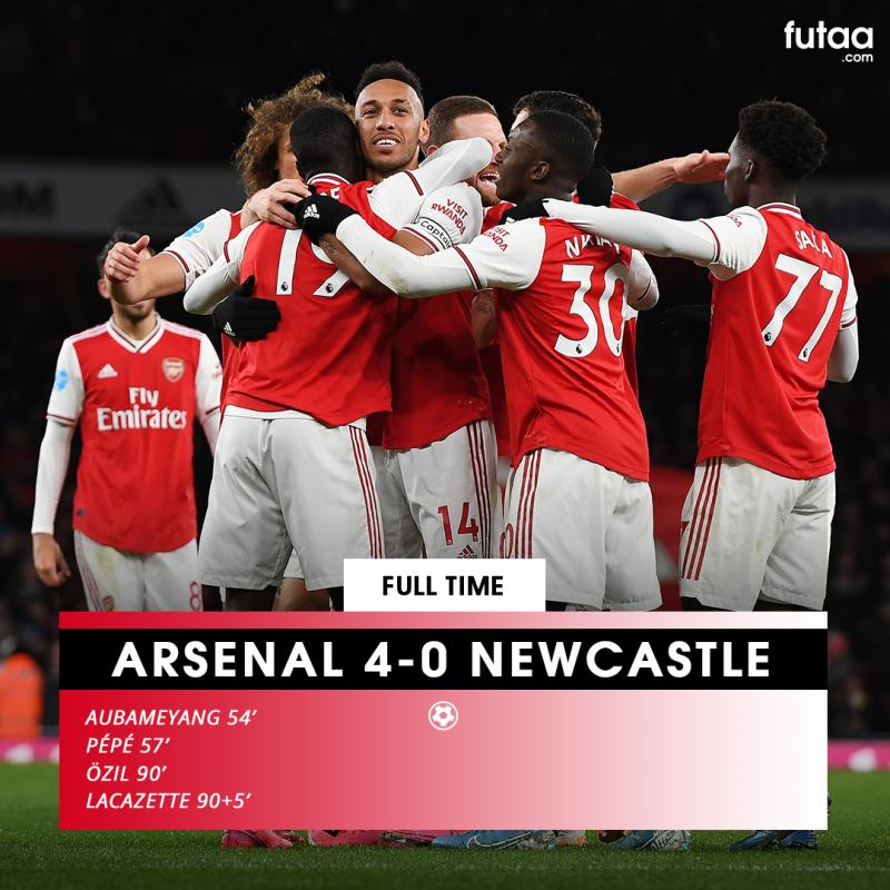 Arsenal 4 0 Newcastle How Did We Rate The Gunners Starting Xi Out Of 10 Futaa Com