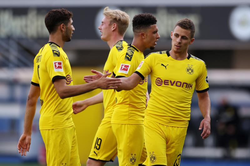 Jadon Sancho reveals 'Justice for George Floyd' t-shirt after scoring for Dortmund