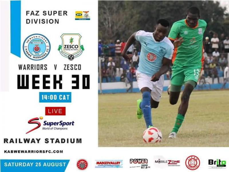 ZSL preview: : Out of form Kabwe Warriors host Log leaders