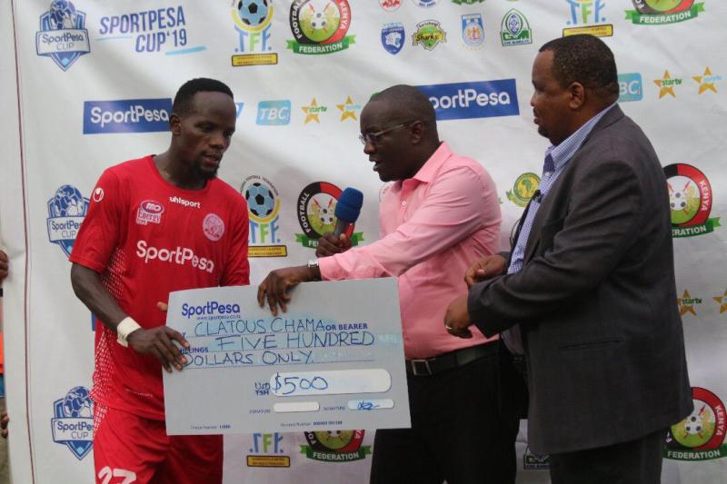 Chama man of the match performance helps Simba to Sportspesa Cup semis