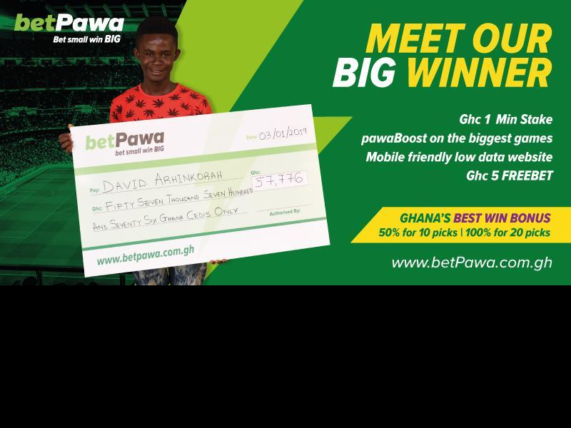 Bus conductor wins Ghc 57,776.93 to become betPawa Ghana's first BIG winner of 2019