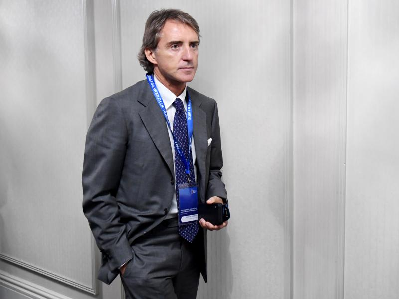 Mancini reacts to setting new record with Italy