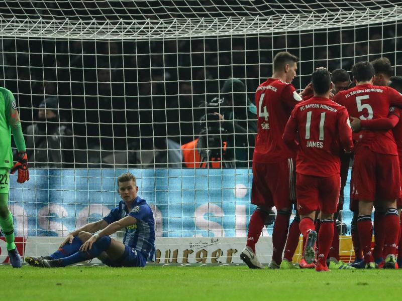 Extra time needed as Bayern edge Hertha to book quarters slot