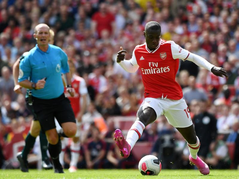 Nicolas Pepe starts as Arsenal and Liverpool reveal their line ups
