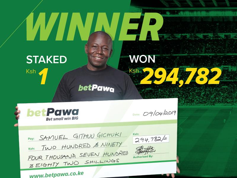 Nairobi man placed a 10 leg bet for 1 bob and walked away with Ksh. 294,782  in winnings.