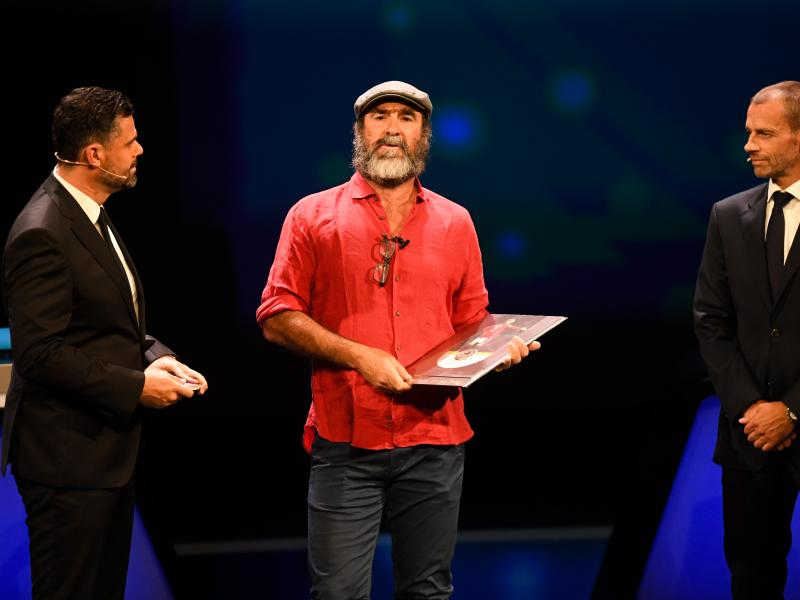 Eric Cantona stuns Cristiano Ronaldo and Lionel Messi with bizarre speech at Champions League draw