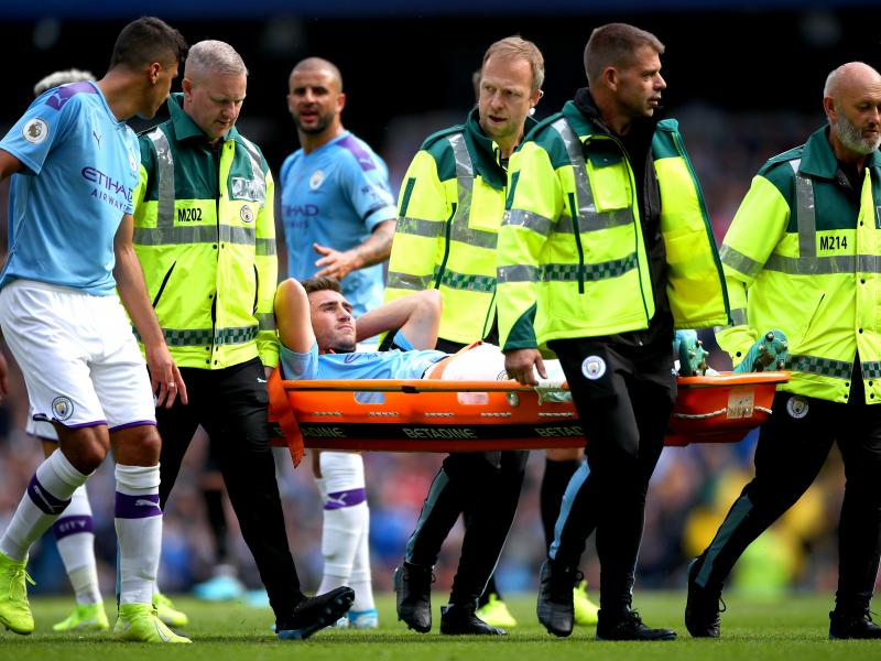 Blow for Man City as Laporte is ruled out for a month with a hamstring injury