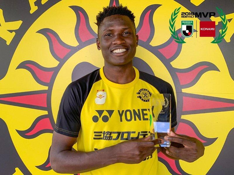 Michael Olunga wins August player of the month gong in Japan