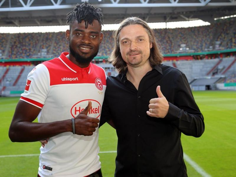 Kasim Nuhu makes his official league debut for Fortuna Dusseldorf