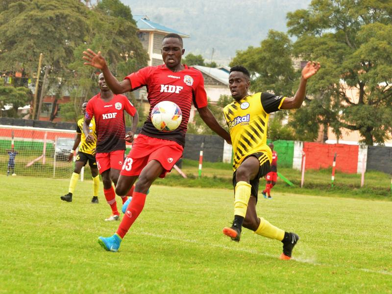 Ulinzi Stars parade for Mathare United test