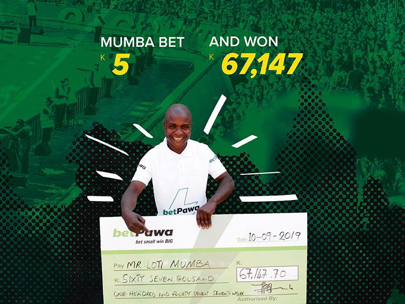 Zambian man beats the odds to win K67,147.70 from K5 bet