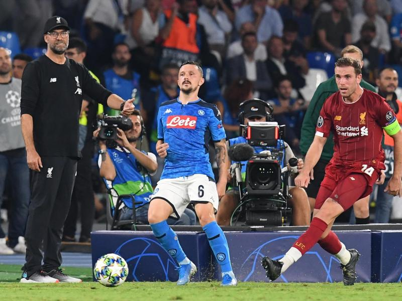 Klopp bemoans penalty in Liverpool loss to Napoli