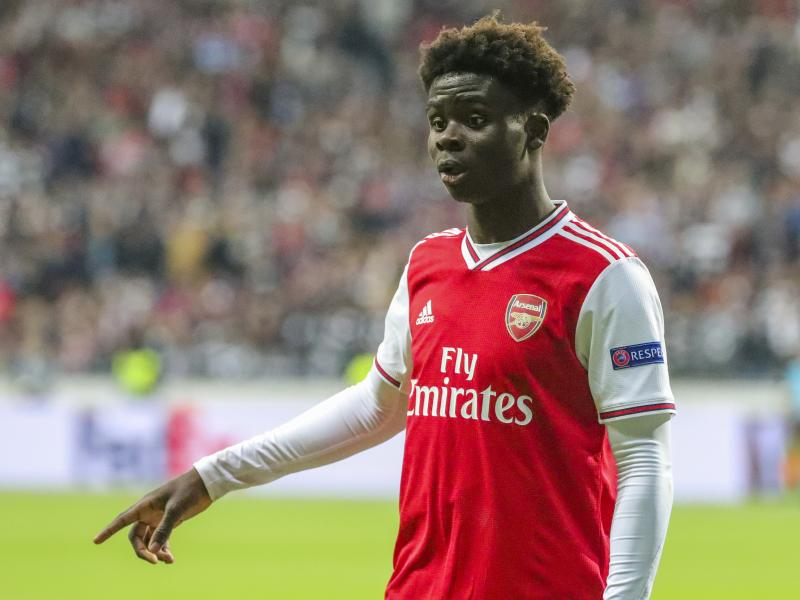 How Bukayo Saka celebrated his match-winning performance against Frankfurt
