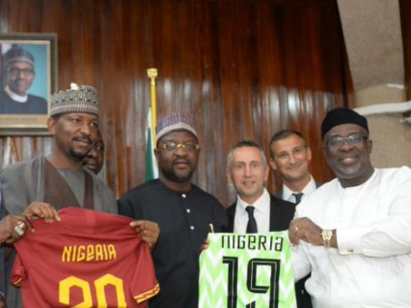 NFF, AS Roma excited with partnership deal