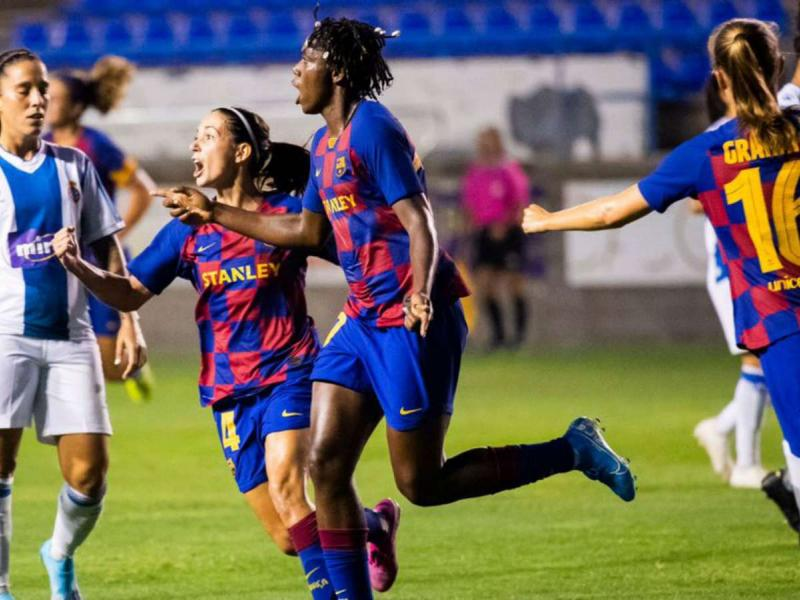 Nigerian striker Oshoala scores brace as Barca beat Atletico Madrid