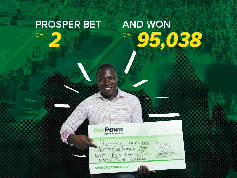 Prosper by name Prosper by nature after GH¢2 bet nets GH¢95,038.38
