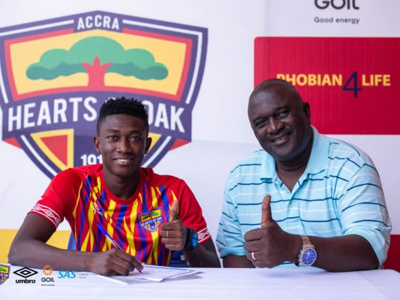 Hearts of Oak midfielder Manaf Umar expresses gratitude to coach Kim Grant
