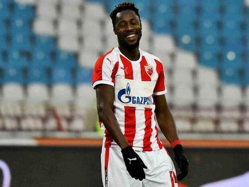 Richmond Boakye scores his debut Champions League goal for Red Star Belgrade