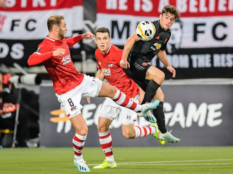 Why Daniel James played as a striker ahead of Mason Greenwood against AZ Alkmaar