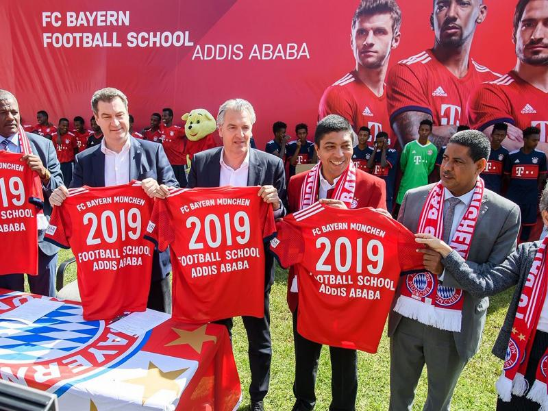 Coaches travel to Ethiopia to launch first coaching courses at Bayern Munich Football School