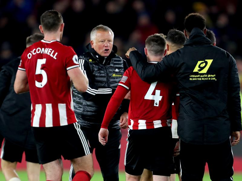 Chris Wilder praises his charges for a great performance against Arsenal