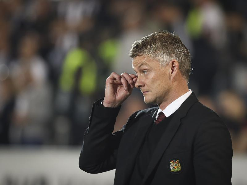 Ole Gunnar Solskjaer reacts to Tahith Chong's horror miss in defeat to Astana