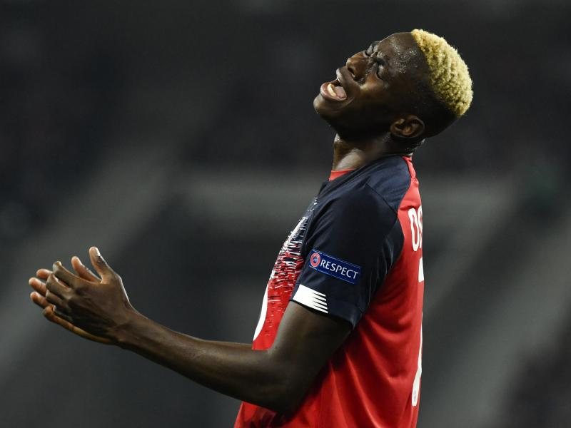 Lille striker Victor Osimhen hospitalised after complaining of chest pains