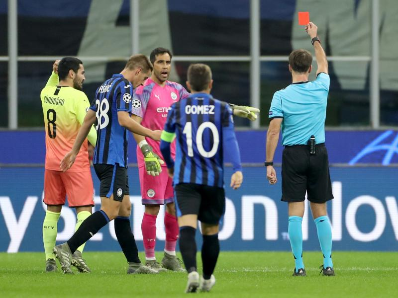 Atalanta 1-1 Man City: Bravo sees red as Guardiola's men survive final ten minutes