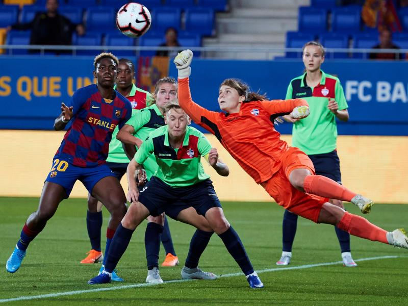Oshoala under fire for criticizing Barca in barren draw vs Slavia Prague