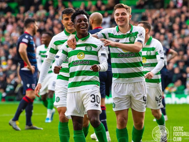 🇬🇭🏴󠁧󠁢󠁳󠁣󠁴󠁿🍀 Jeremie Frimpong elated with Celtic's 2-0 home win against Motherwell