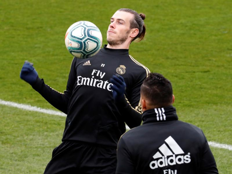 Gareth Bale mocked in Real Madrid training