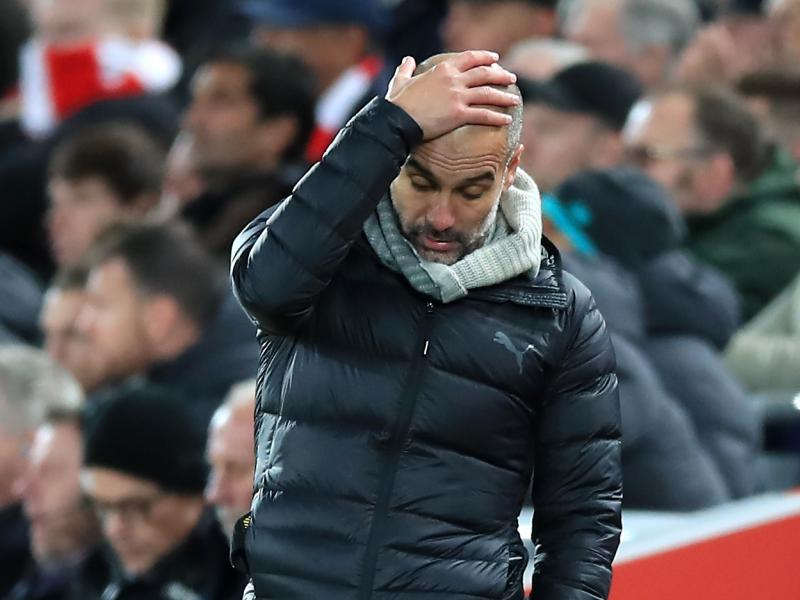 Pep Guardiola may face fine after reaction to defeat against Tottenham