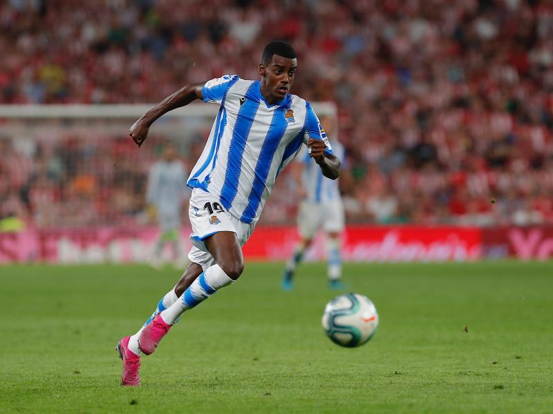 Real Sociedad striker Alexander Isak a target for Barcelona