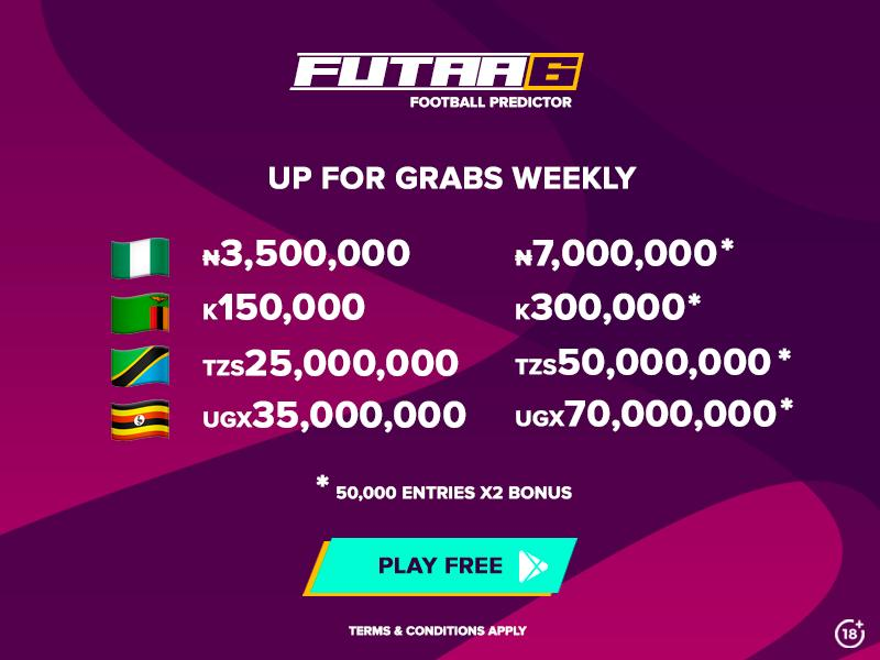 🇳🇬🇹🇿🇺🇬🇿🇲 FREE TO PLAY: Predict 6 scores on the Futaa App and win $20,000