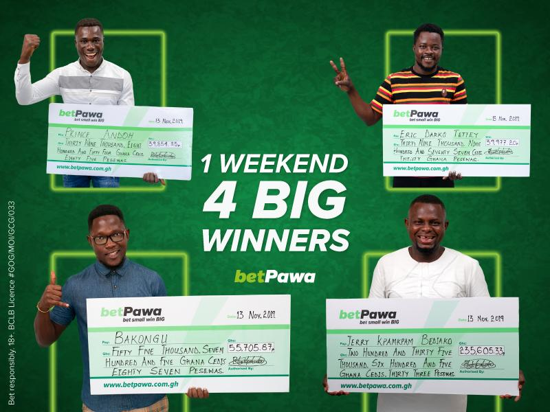 Ghanaians pocket GH¢3,180,716.01 on betPawa's BIG weekend of winners