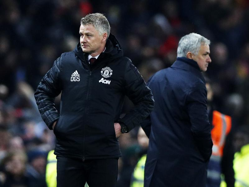 Ole Gunnar Solskjaer takes a swipe at Jose Mourinho and Louis van Gaal
