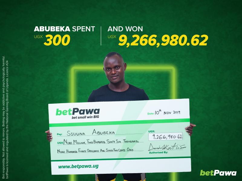 Ugandan singer hits UGX 9,266,980.62 high note with betPawa's 250% win bonus