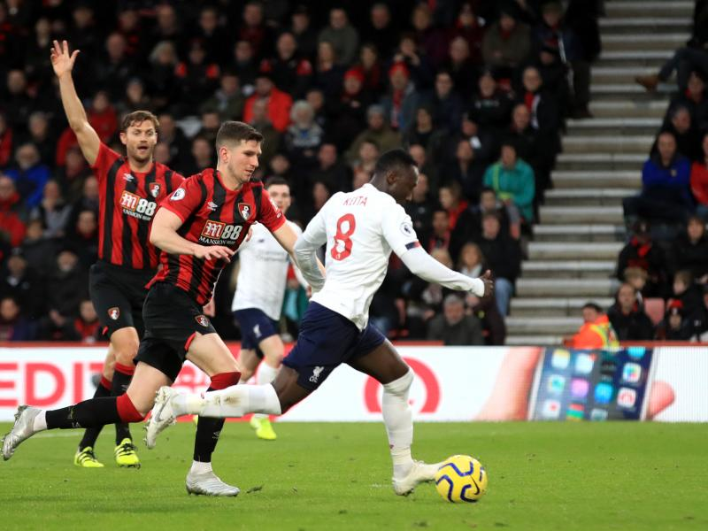 Bournemouth 0-3 Liverpool: The Reds momentarily open up an 11 point gap at the summit