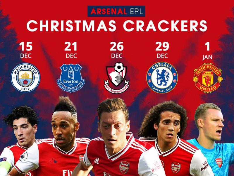 🎄 Looking ahead to Arsenal's busy Christmas schedule