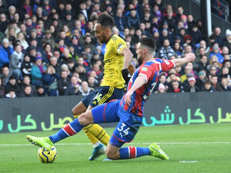 Crystal Palace 1-1 Arsenal: Goal and red for Aubameyang as Gunners are held