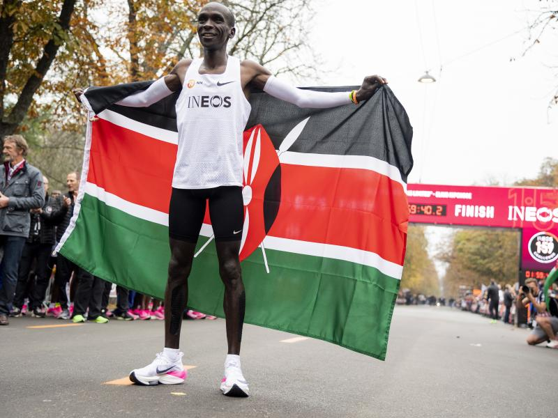 Kipchoge to battle Messi, Tiger Woods, and Nadal for top honors