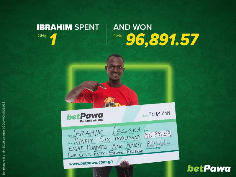 Last-minute goal turns GH¢1 into GH¢96,891.57 for betPawa customer