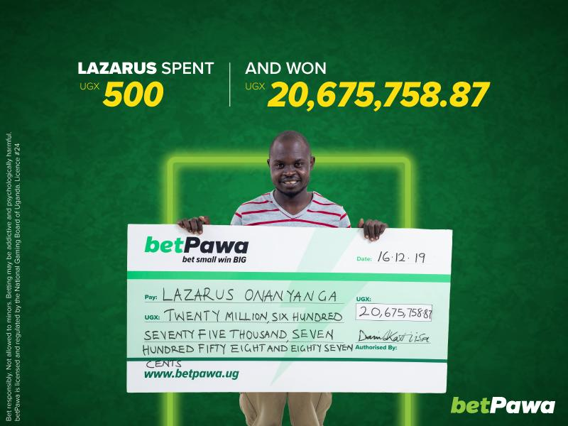 Mechanic bets UGX 500 and wins UGX 20,675,758.87 with betPawa