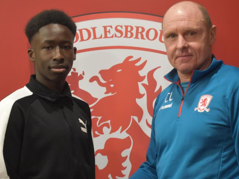Kenyan joins Middlesbrough on an Academy scholarship